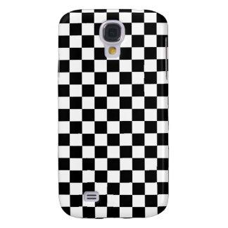 Black and White Checkerboard Samsung Galaxy S4 Cover