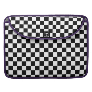 Black and White Checkerboard Sleeve For MacBooks