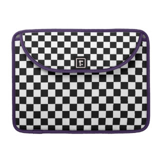 Black and White Checkerboard Sleeves For MacBooks