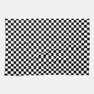 Black and White Checkerboard Tea Towel