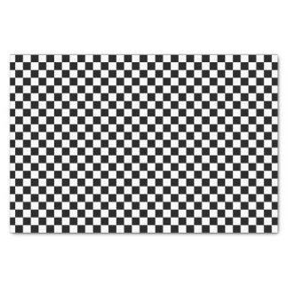 Black and White Checkerboard Tissue Paper