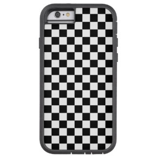Black and White Checkerboard Tough Xtreme iPhone 6 Case