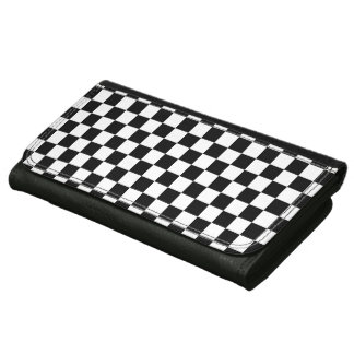 Black and White Checkerboard Women's Wallet