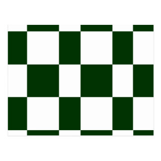 Black And White checkerboards Postcard