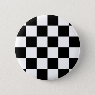 Black and White Checkered Auto Racing Flag 6 Cm Round Badge