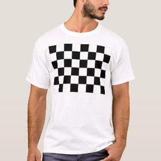 Black and White Checkered Auto Racing Flag T-Shirt