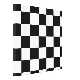 Black and White Checkered Gallery Wrap Canvas