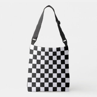 Black and White Checkered Crossbody Bag