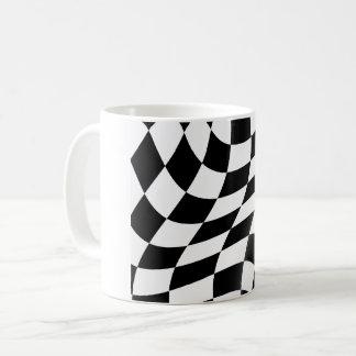 Black And White Checkered Flag Mug