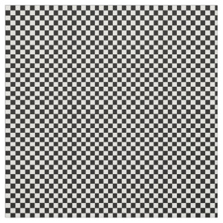 Black and white checkered pattern. fabric