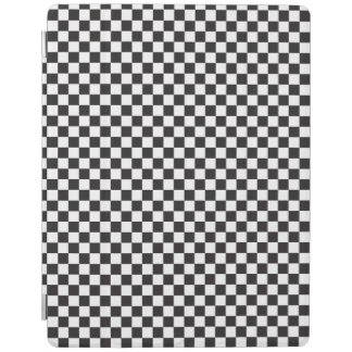 Black And White Checkered Pattern iPad Cover