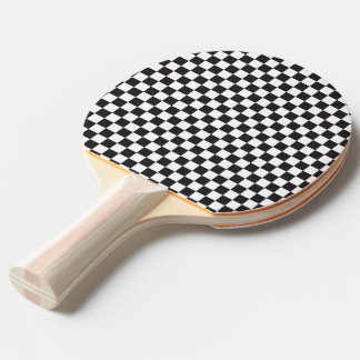 Black And White Checkered Pattern Ping Pong Paddle