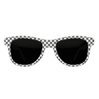 Black And White Checkered Pattern Sunglasses