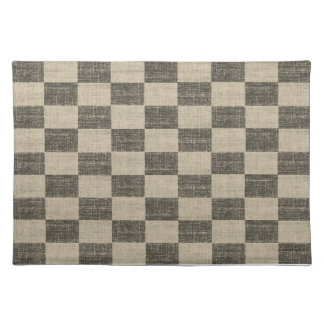 Black and White Checkered Placemat
