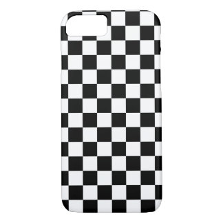 Black and White Checkered Squares iPhone 7 Case