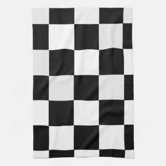 Black and White Checkered Tea Towel