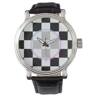 Black and White Checkered Watch