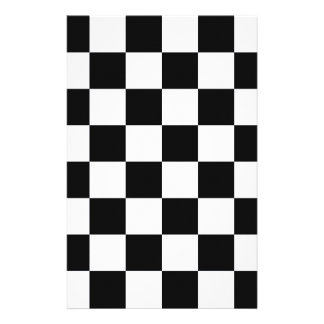 Black And White Checkers Stationery