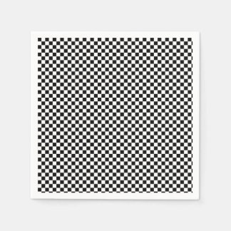 Black and White checks Disposable Napkin