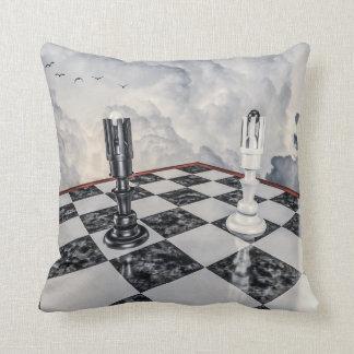 Black and White Chess Cushion