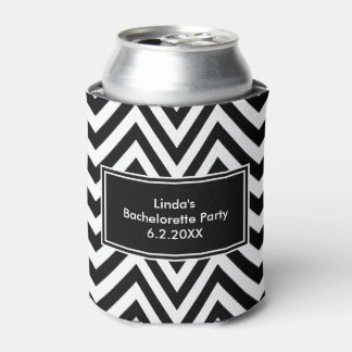 Black And White Chevron Can Cooler