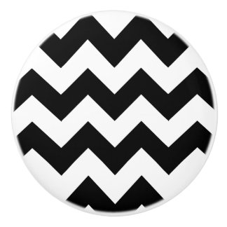 Black and White Chevron Drawer Pull