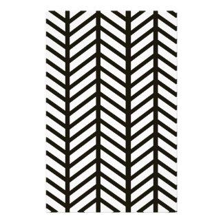 Black and White Chevron Folders Stationery Design