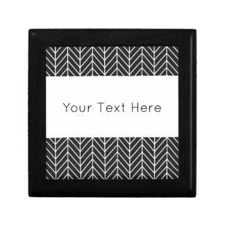 Black and White Chevron Gift Box