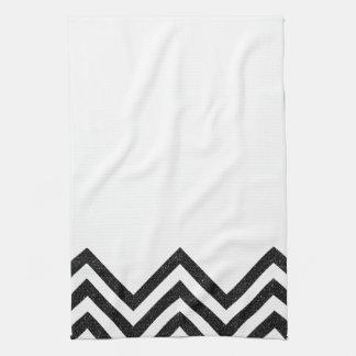 Black and white chevron kitchen towel II