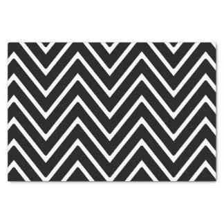 Black and White Chevron Pattern 2 Tissue Paper