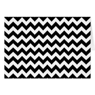 Black and white chevron pattern card