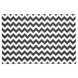 Black and white Chevron pattern Doormat