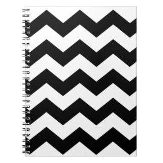 Black and White Chevron Pattern Notebook