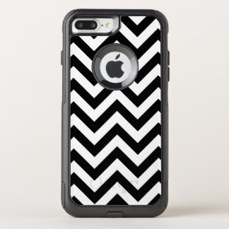 Black And White Chevron Pattern OtterBox Commuter iPhone 8 Plus/7 Plus Case