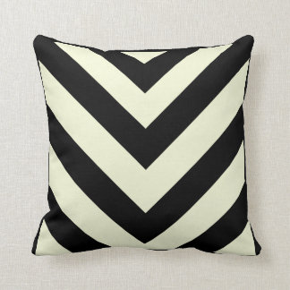 Black and White Chevron Pattern Pillows