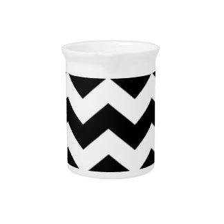 Black and White Chevron Pattern Pitcher