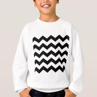 Black and White Chevron Pattern Sweatshirt