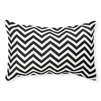 Black and White Chevron Pet Bed