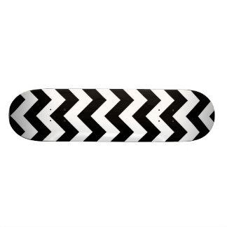 Black and White Chevron Skateboard