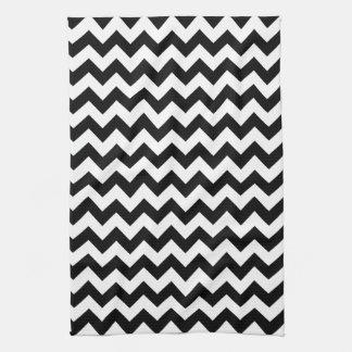 Black and White Chevron Tea Towel