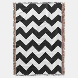 Black and White Chevron Throw Blanket