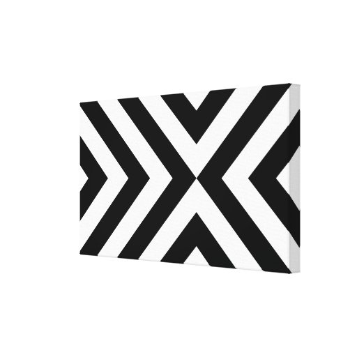 Black and White Chevrons Gallery Wrap Canvas
