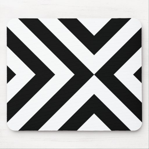 Black and White Chevrons Mousepads