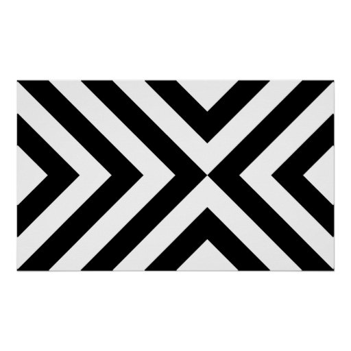 Black and White Chevrons Poster
