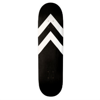 Black and White Chevrons Skateboard Deck