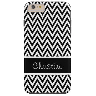 Black and White Chevrons Tough iPhone 6 Plus Case