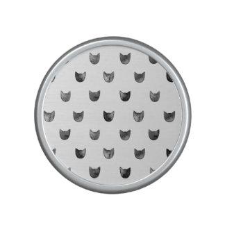 Black and White Chic Cute Cat Pattern Speaker