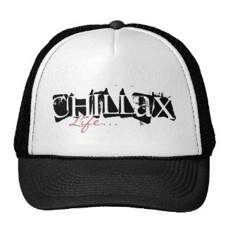 Black and White Chillax - Trucker Hat