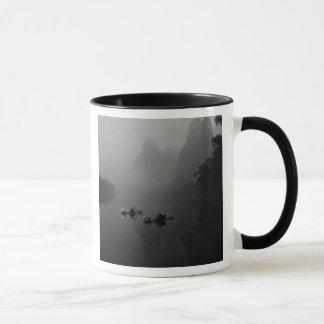 Black and white, China, Li River, Fisherman on Mug