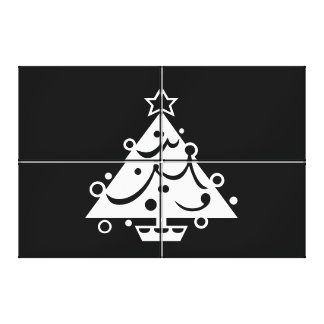 Black and White Christmas Canvas Wall art Canvas Prints